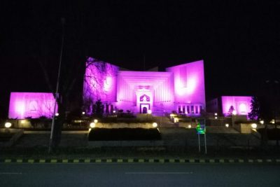 Supreme Court Turned Pink In Support of Pink Ribbon