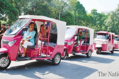 Women-only 'pink rickshaw' hits the road in Lahore